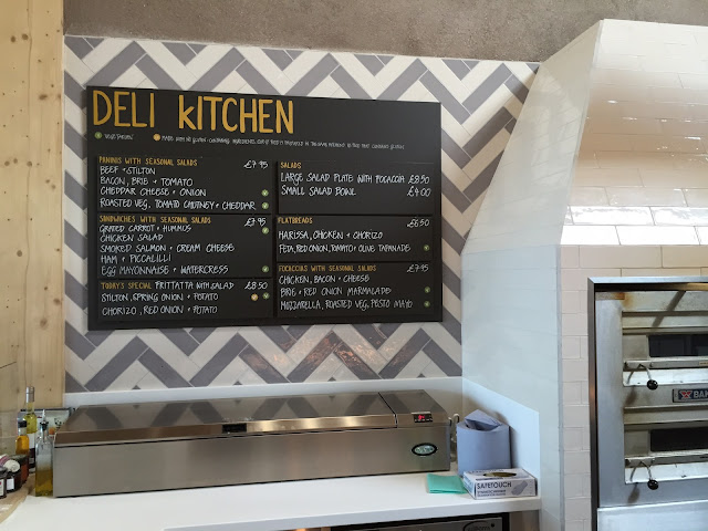 Deli kitchen sign at Gloucester Services