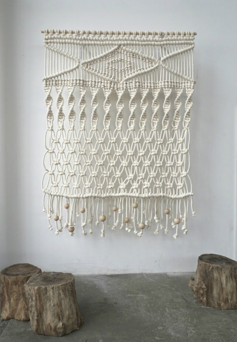 Woven walls wild grizzly - Tapices de macrame ...