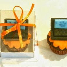 Cupcake decorado para Lembrancinha Corporativo