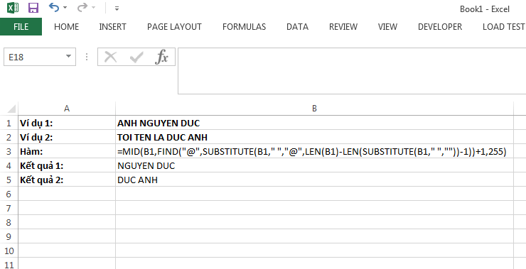 Hàm trích 2 từ cuối của văn bản trong Excel