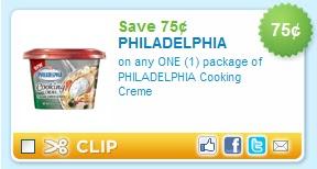 Philadelphia cooking creme coupon printable
