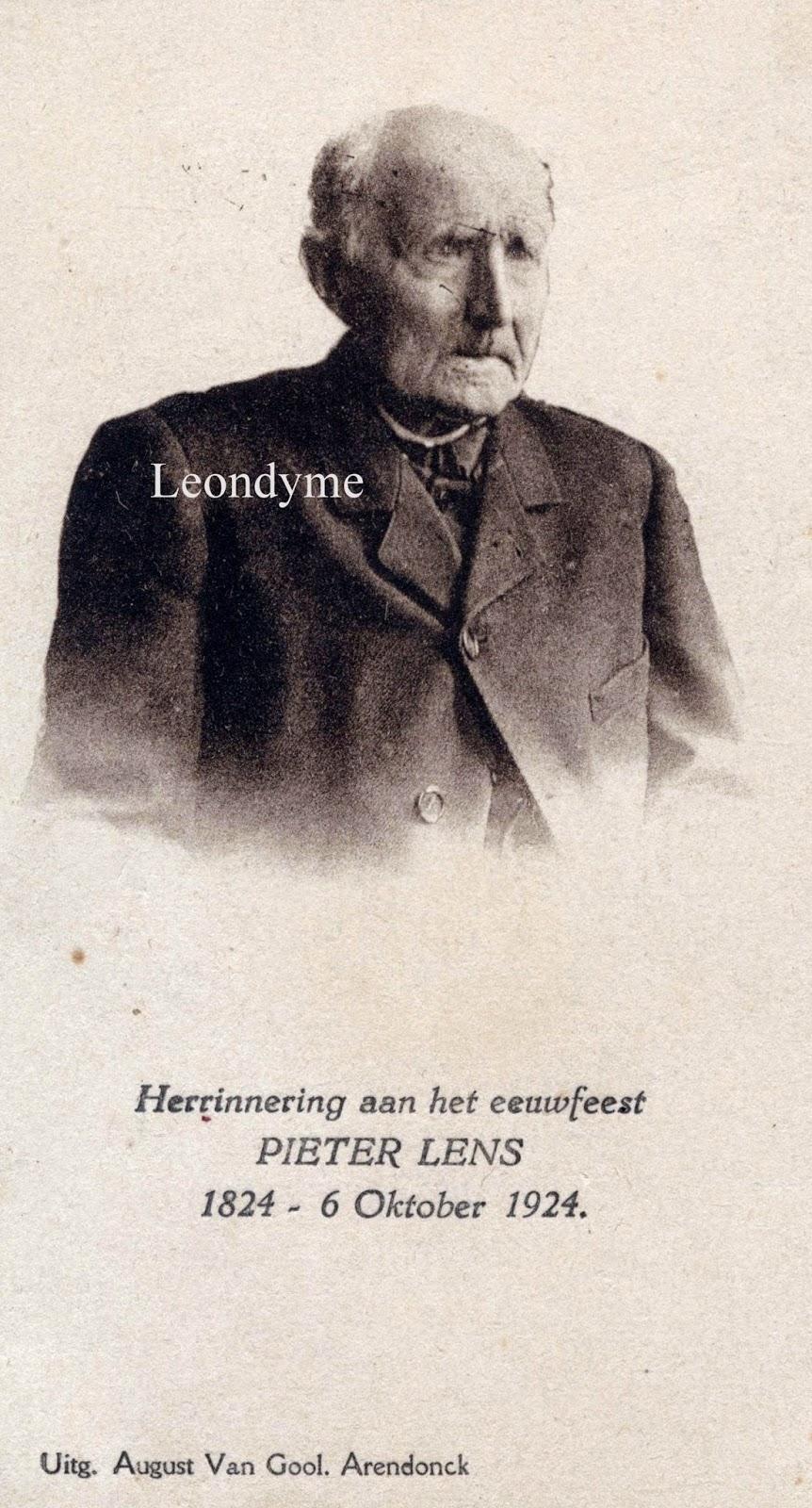 Petrus Lens 06-10-1824 Arendonk-22-02-1927 Arendonk. Verzameling Leondyme