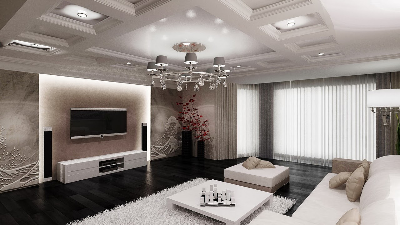 wall decoration living room 2014, TV living room design, ideas, photo