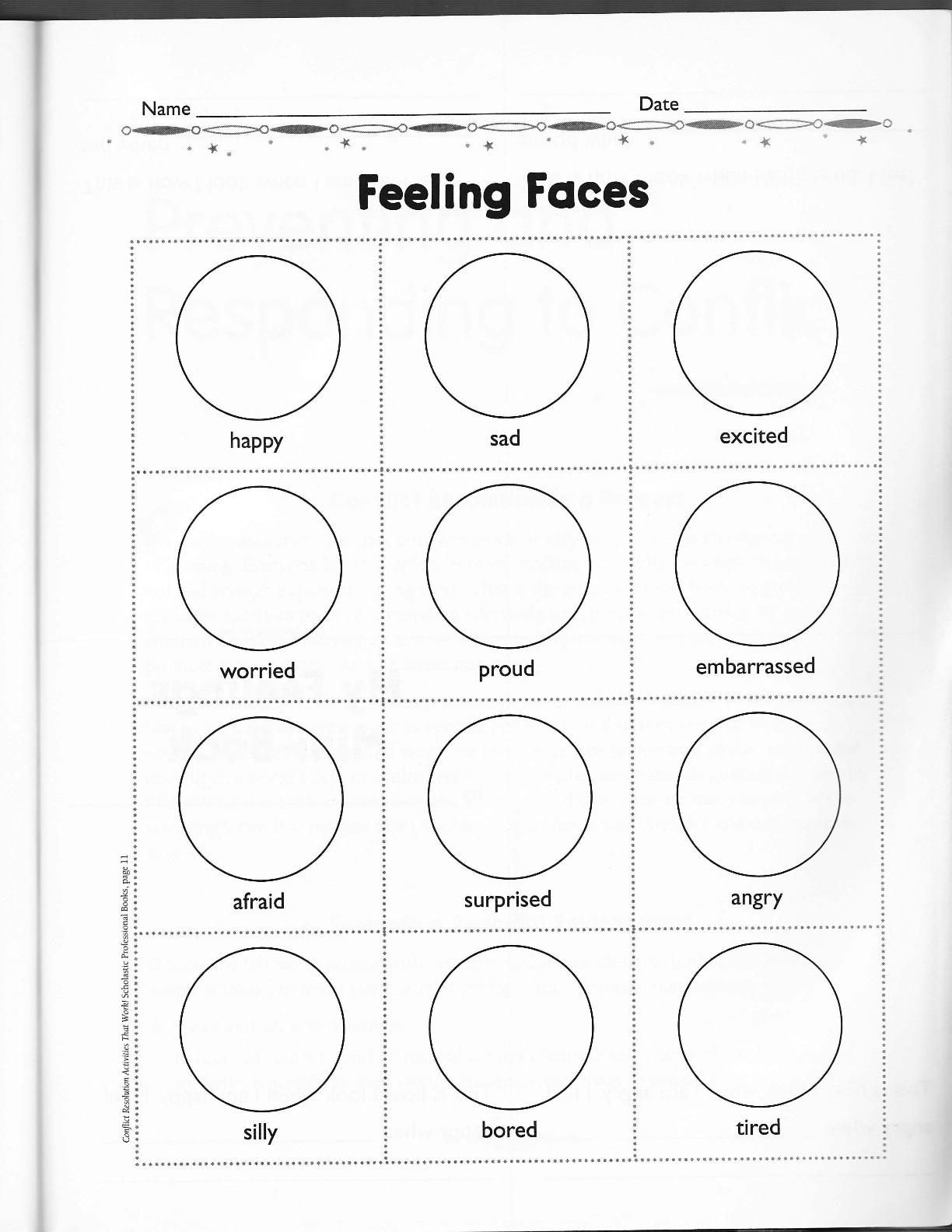 worksheet. Emotions Worksheet For Kindergarten. Carlos Lomas ...