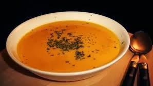 Crema de zanahorias y calabaza