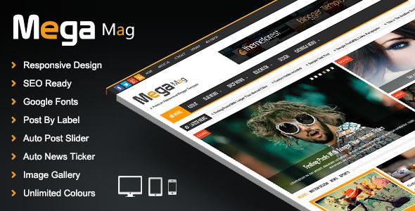 Mega Mag - Responsive Magazine Blogger Template