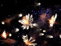 たくさんの打ち上げ花火 | 花火のイラストや写真のフリー素材色々。無料で商用可
