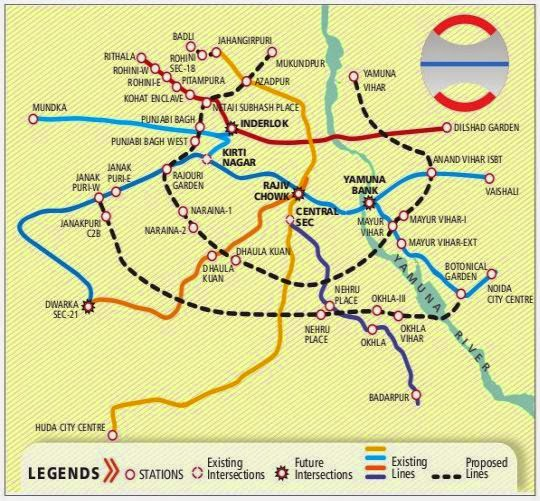 delhi metro route map pdf