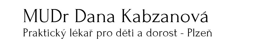 MUDr Dana Kabzanová, praktický lékař pro děti a dorost (Plzeň)
