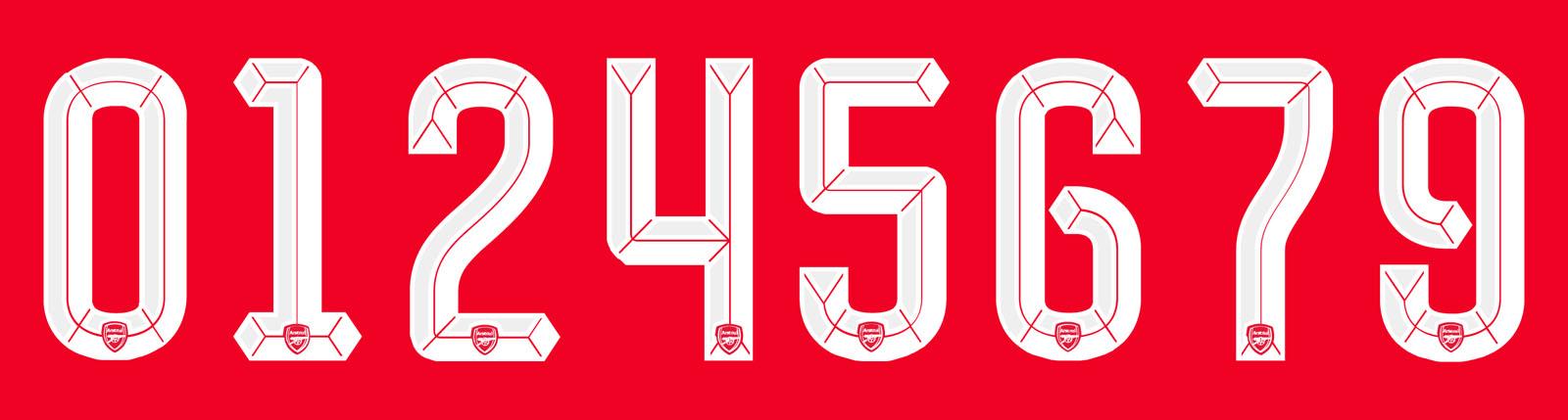 Arsenal Lima Enam Kit Font Revealed Footy Headlines