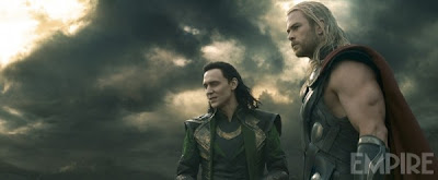 Chris Hemsworth as Thor and Tom Hiddleston as Loki