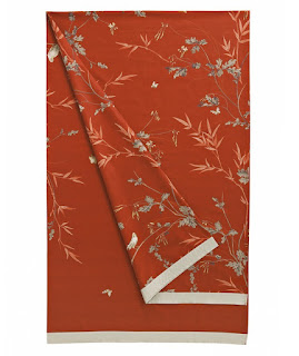 Robin de Zucchi Collection. Foular de Decoracion. Naranja