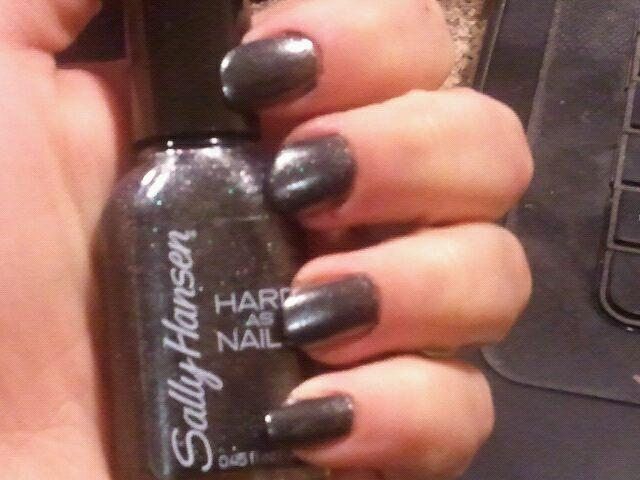 Enchanting Cosmetics: Sally Hansen Hard as Nails in Onyx Rock