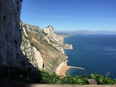 View from the Mediterranean Steps looking north along the East Coast of Gibraltar