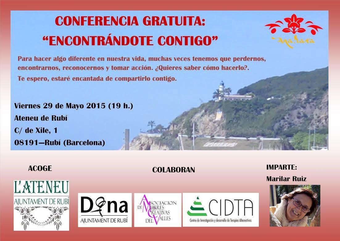 """CONFERENCIA """"ENCUENTRATE A TI MISMA"""""""