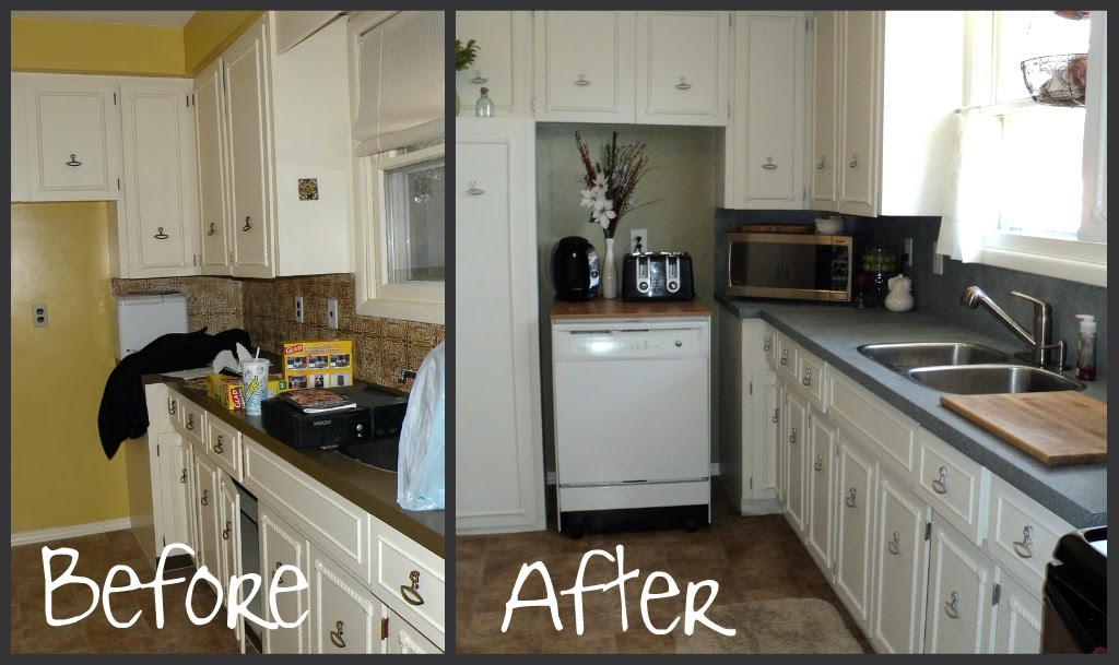 Countertop Paint Canadian Tire : Life.Love.Craft: kitchen countertop - a spray paint affair