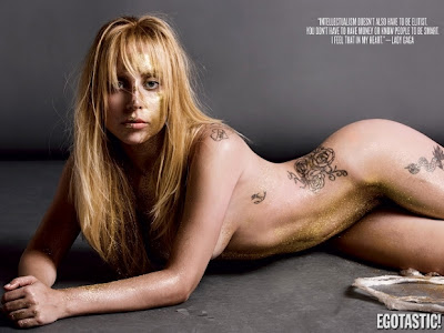 Lady Gaga em Topless para a Egostatic