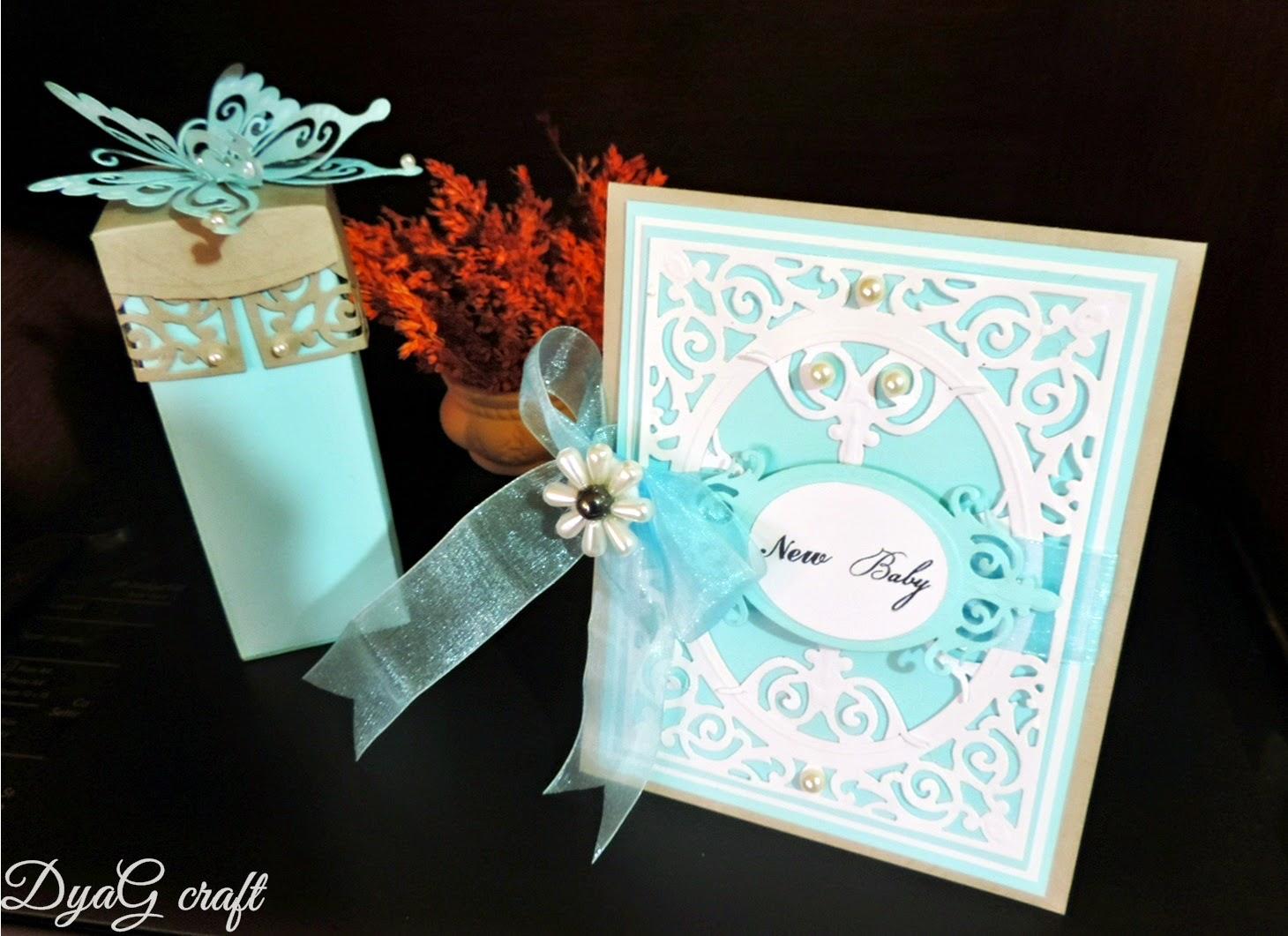 invitatie botez handmade fetita