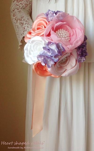wedding bouquet lilacs
