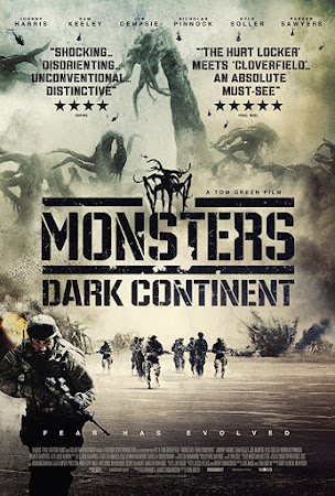 Poster Of Free Download Monsters: Dark Continent 2014 300MB Full Movie Hindi Dubbed 720P Bluray HD HEVC Small Size Pc Movie Only At worldfree4u.com