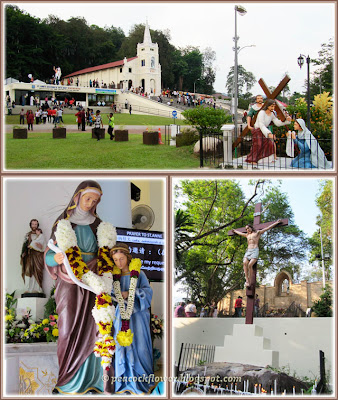 St Anne's Shrine, Statue of St Anne and young Mary, Jesus' crucifixion in Bukit Mertajam