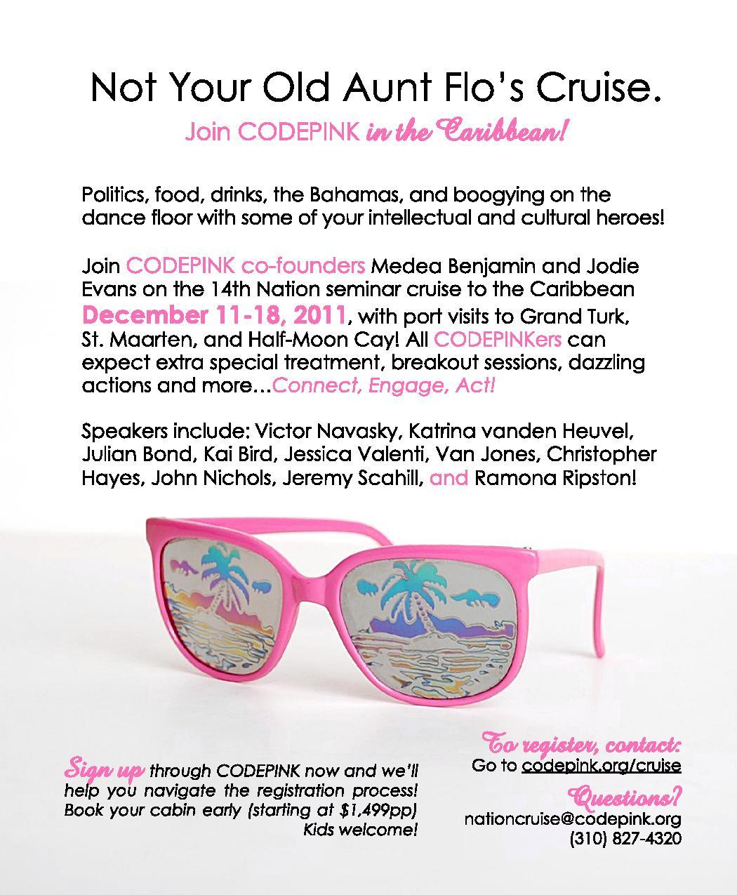 radioshownotes com 11 01 2011 12 01 2011 code pink caribbean cruise
