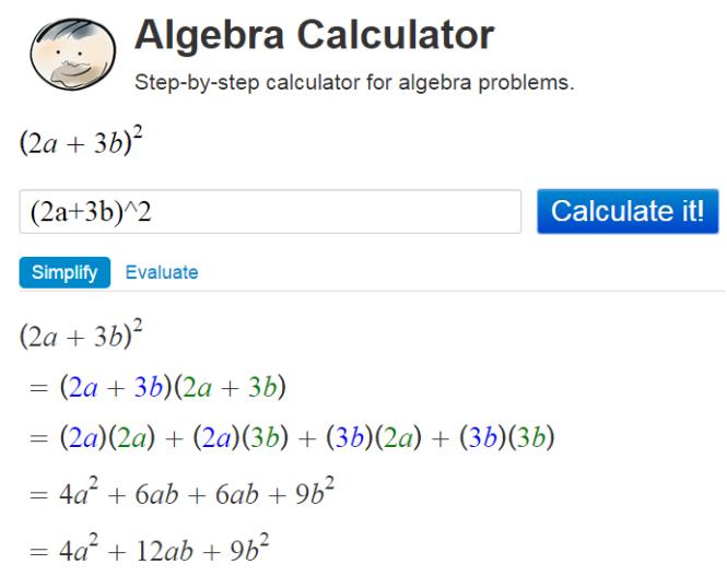risolvere algebra online