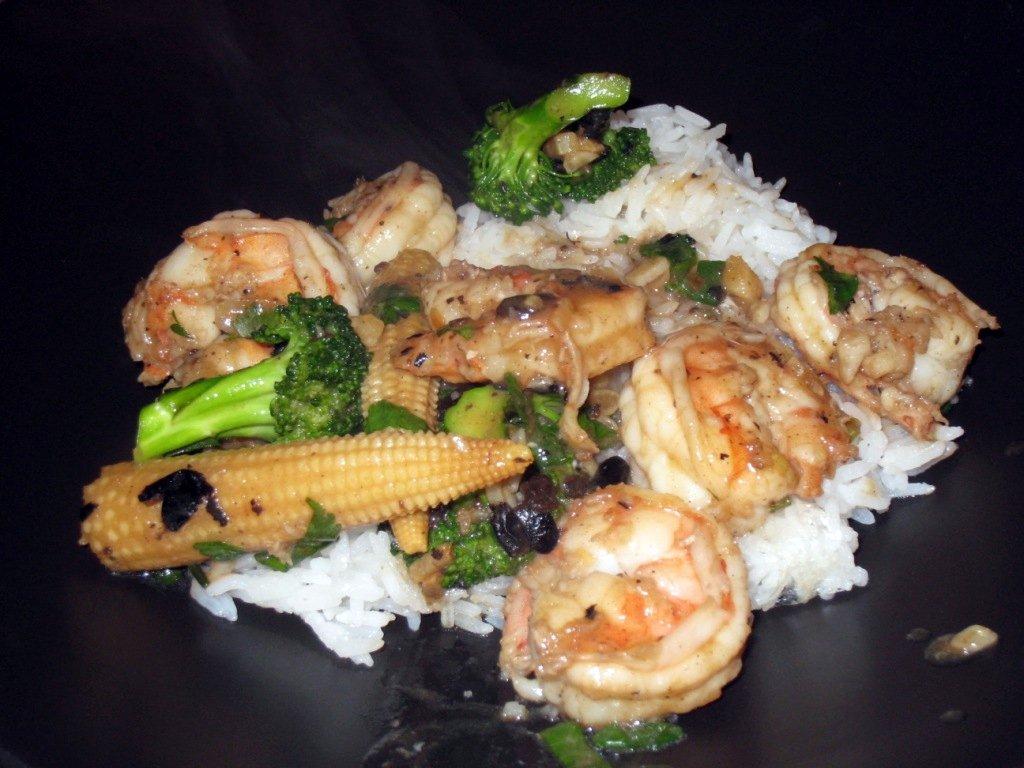 Shrimp with Black Bean Sauce