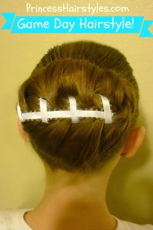Football Bun Hairstyle