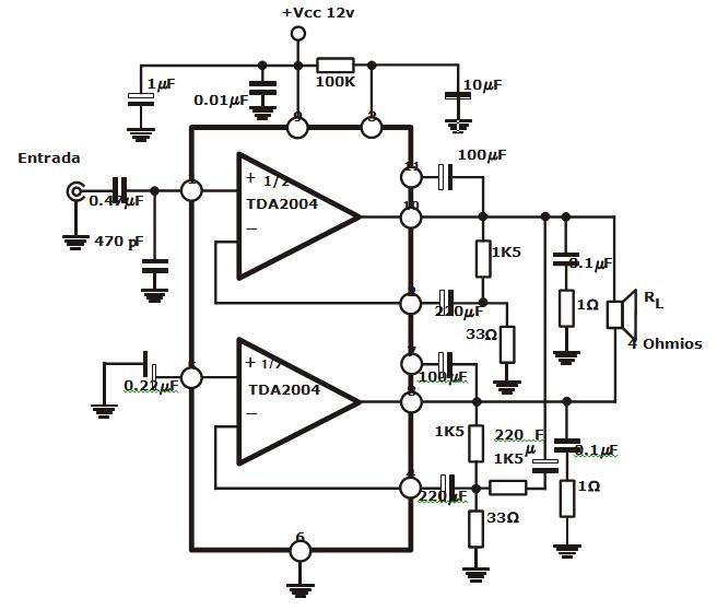 eletr u00f4nicaled  amplificador de 80w  4x20w  12v com crossover