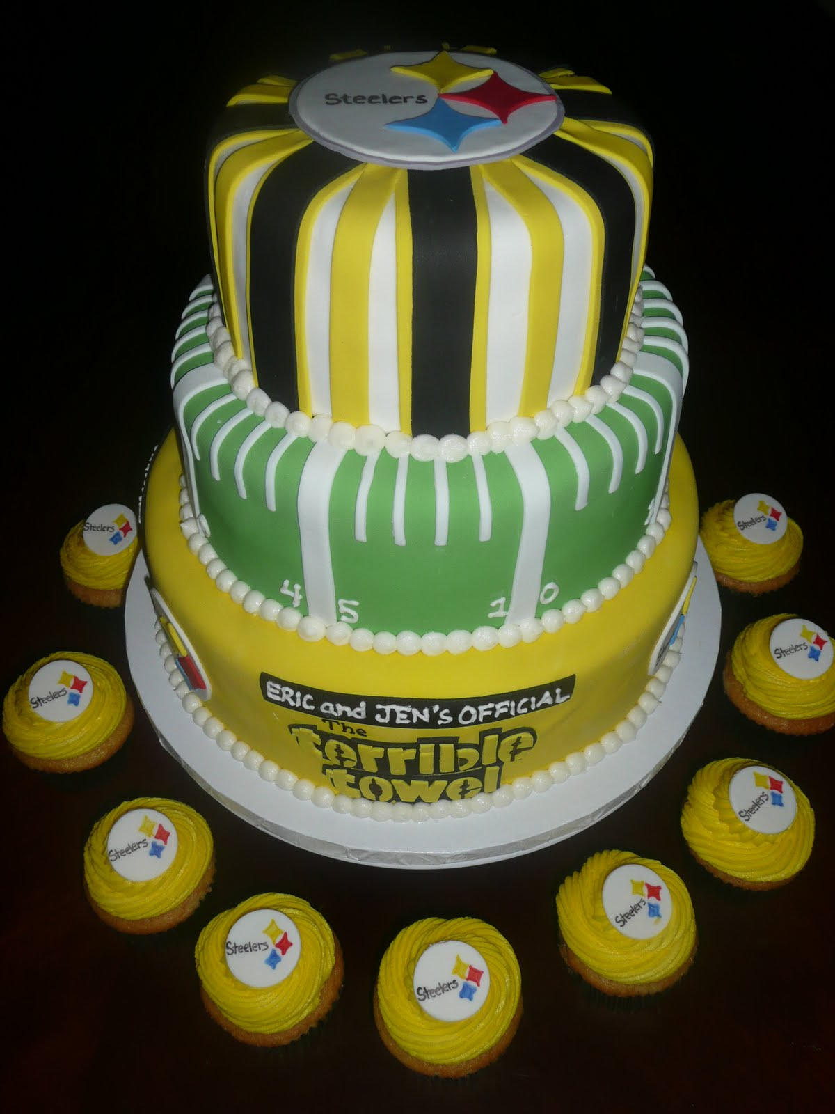 Steelers Football Cupcake Cake Ideas And Designs