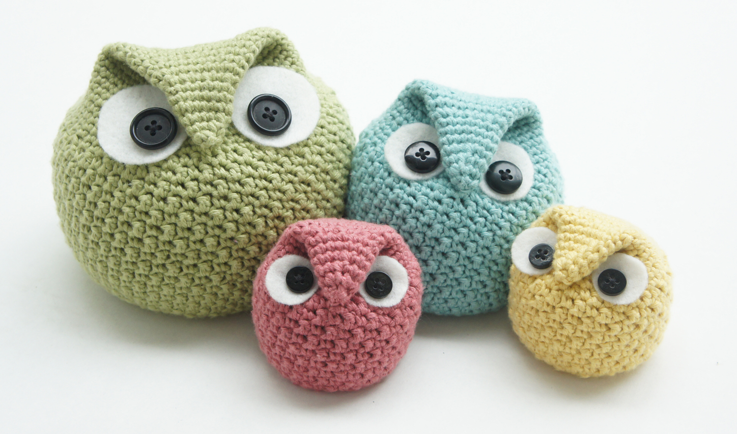 Amigurumi Owl Family : knot sew cute design shop: new crochet pattern - chubby ...