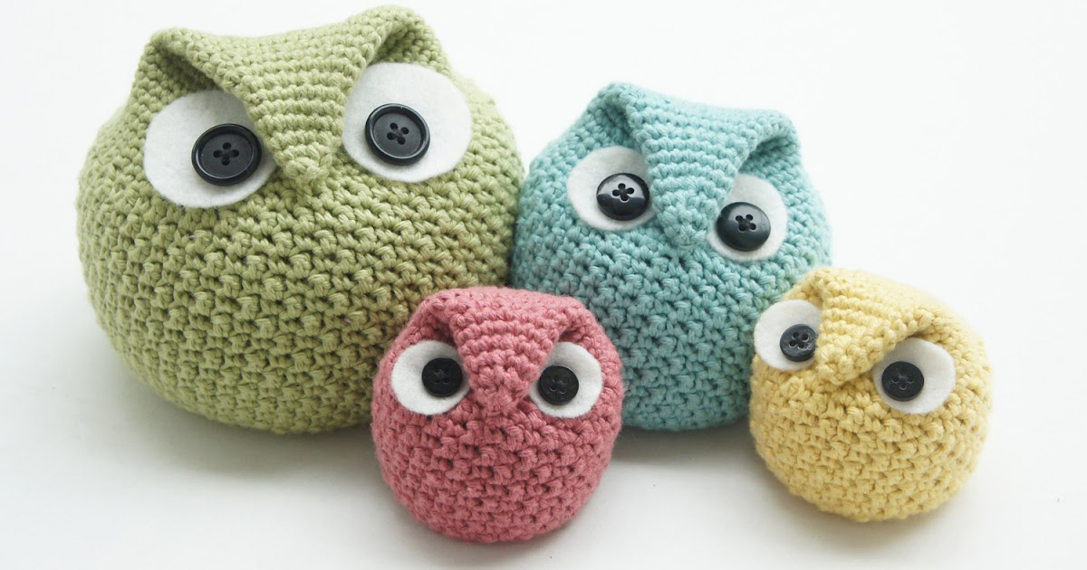 Free Crochet Pattern Owl Family : knot sew cute design shop: new crochet pattern - chubby ...