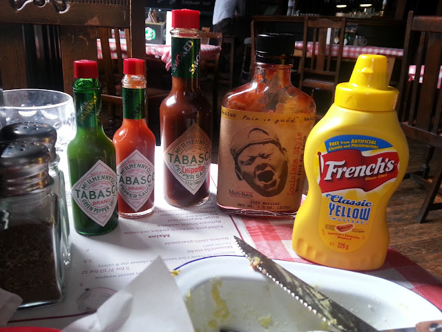 Selection of sauces at MeatLover