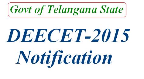 DIETCET-2015 DEECET-2015 Notification TTC 2015 Notification in Telangana State Apply Online for DEECET DEECET-2015 Schedule