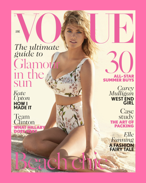 Kate Upton wears Dolce & Gabbana Bikini in Vogue