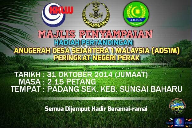 Sekitar Majlis Anugerah Desa Sejahtera 1 Malaysia Peringkat Negeri Perak