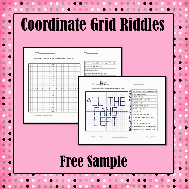 https://www.teacherspayteachers.com/Product/Coordinate-Grid-Riddles-Free-Sample-1657868
