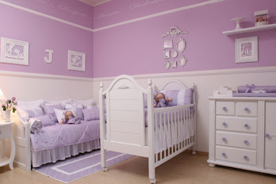 quarto para bebê, menina,lilas