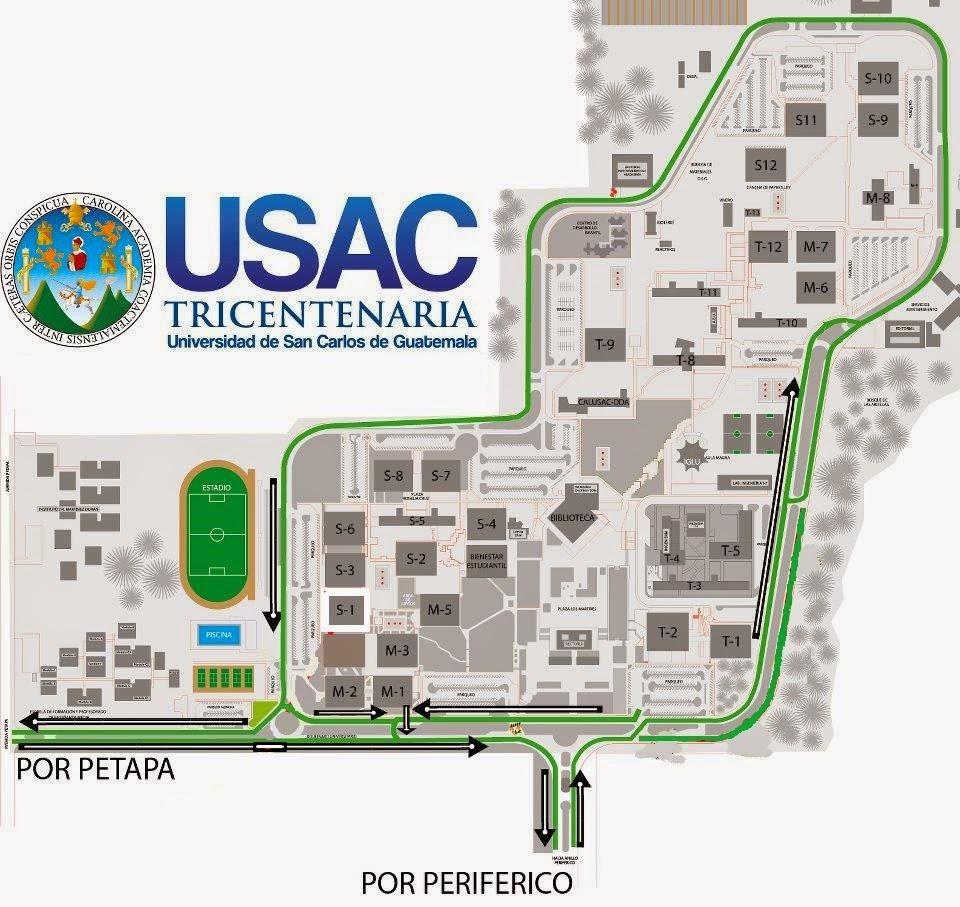Empezando la u mapa de la usac for Mapa facultad de arquitectura