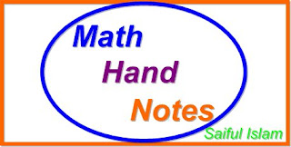 Mathematics Hand notes