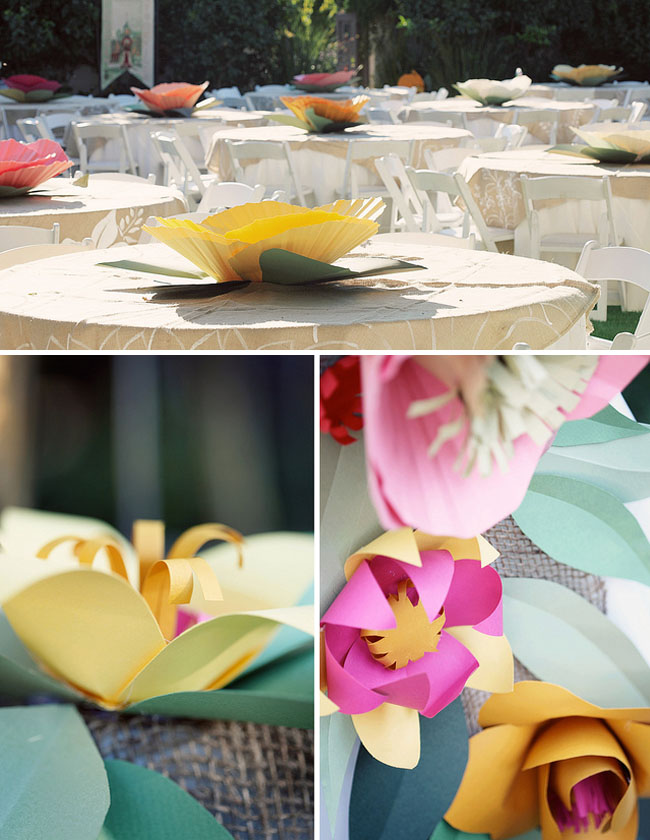 Paper flower table decorations yelomphonecompany paper flower table decorations mightylinksfo