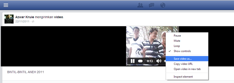 Cara Download Video Dari Facebook dengan idm
