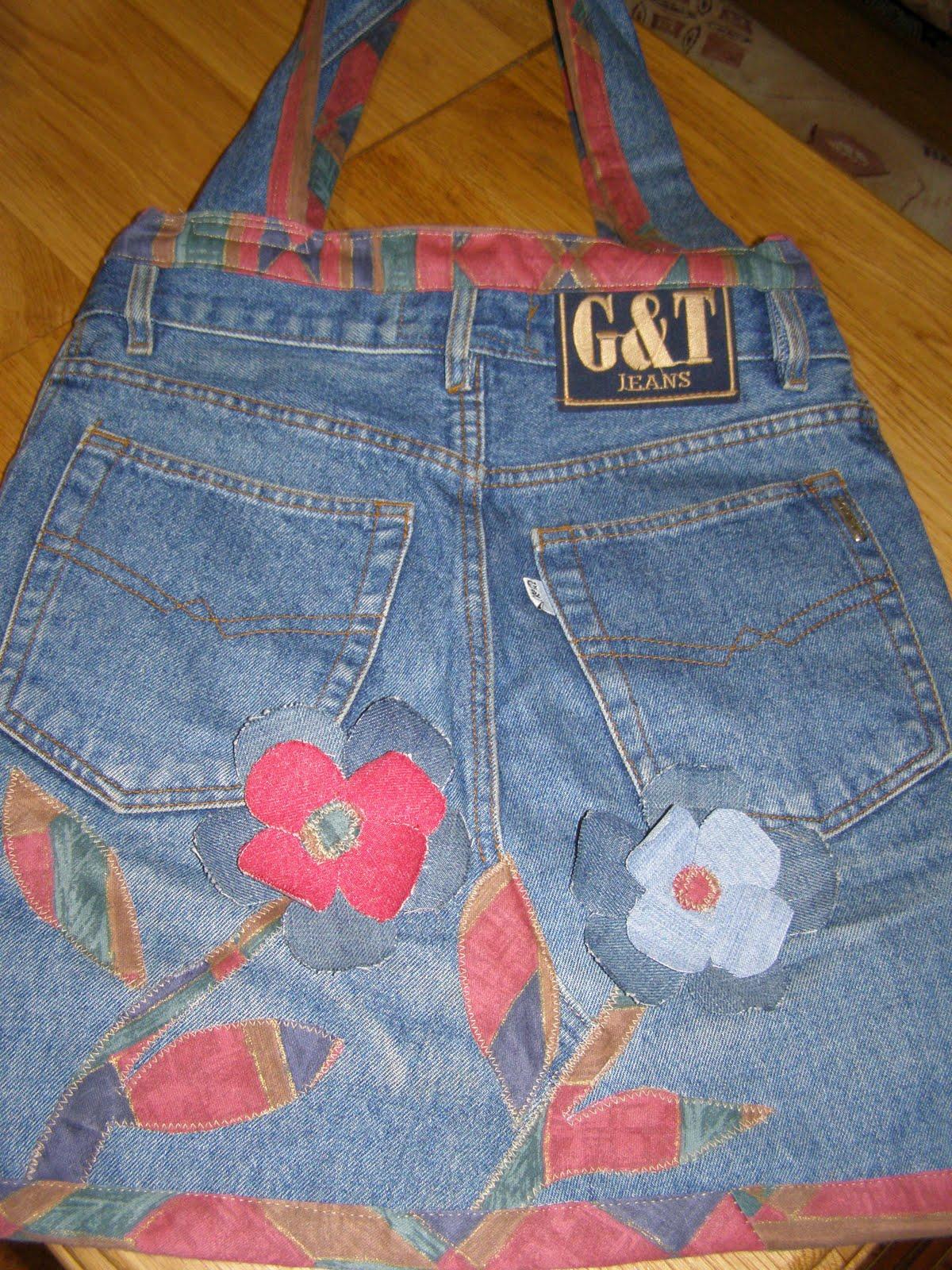 Новая жизнь старых джинс своими руками
