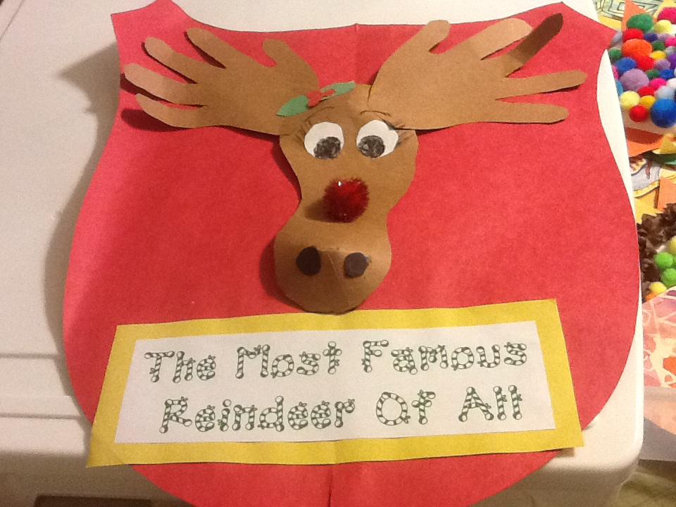 Adventures in tutoring and special education reindeer art for Reindeer project