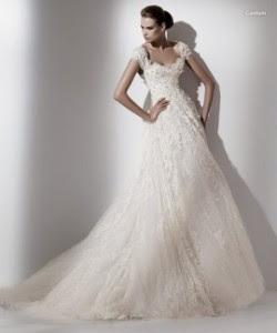 romantic lace caelum wedding dress