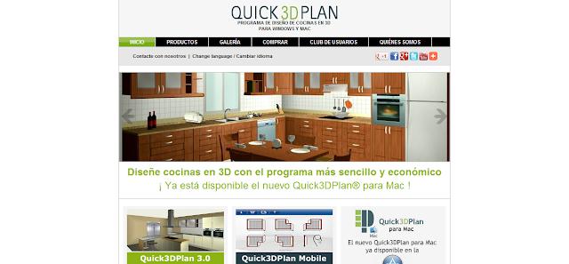 Directorios enlaces quick3dplan programa de dise o de - Programa diseno de cocinas 3d ...