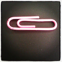 pink paperclip