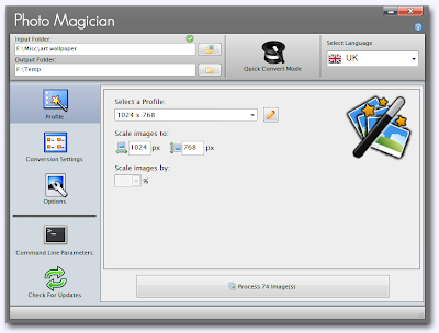 Photo Magician , batch irresizemage converter , image editing software
