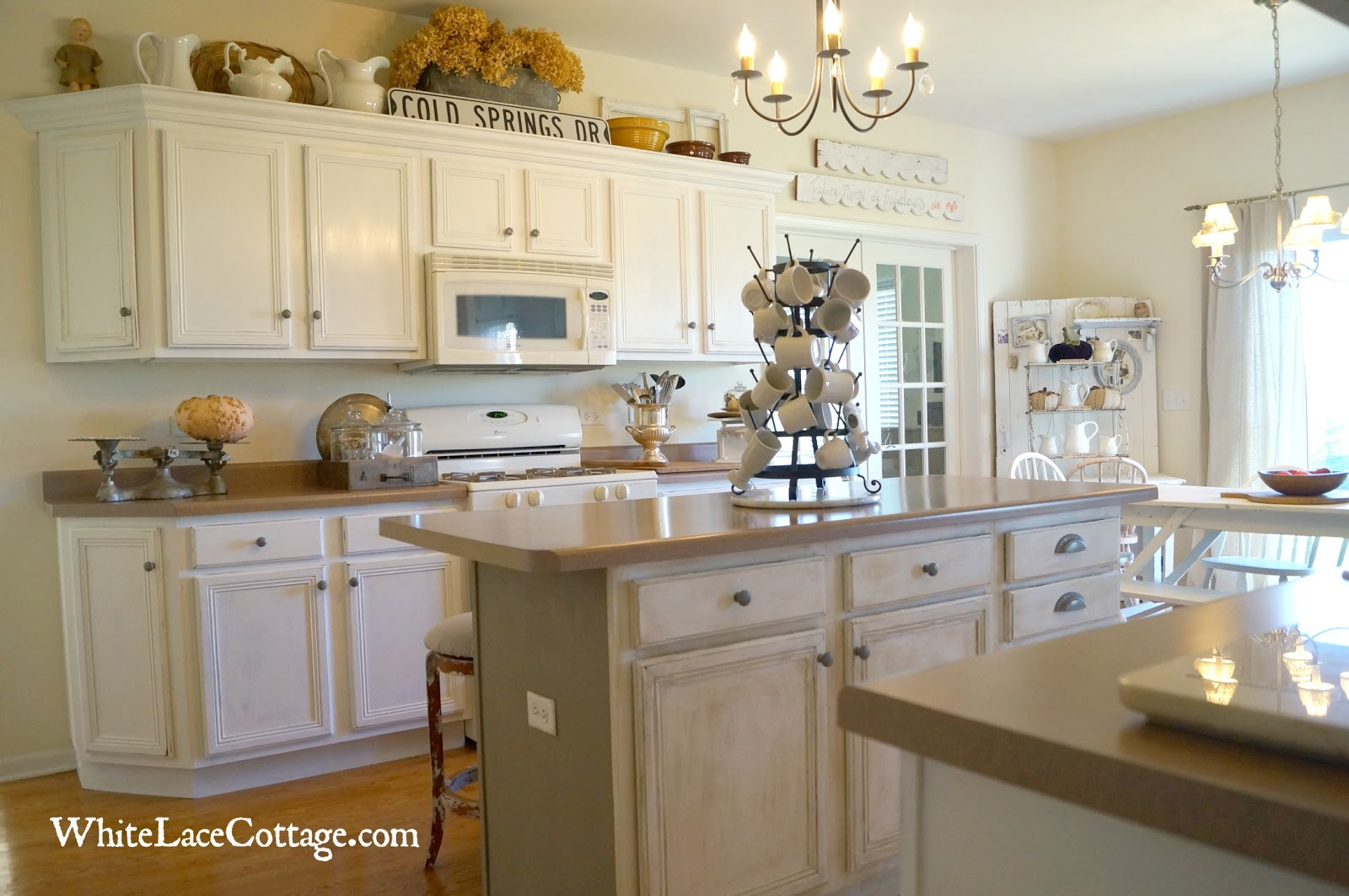 Over Cabinet Decor New Changes With A Little Coco White Lace Cottage